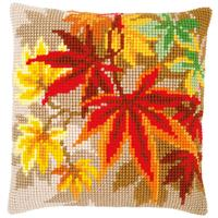 Autumn Leaves Chunky Cross Stitch Cushion Front Kit