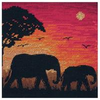 Maia Collection - Elephant Silhouette Counted Cross Stitch Kit