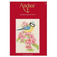 Bluetit & Blossom Counted Cross Stitch Kit  23x16cm