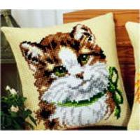 Kitten Vervaco Chunky Cross Stitch Cushion Front Tapestry Kit