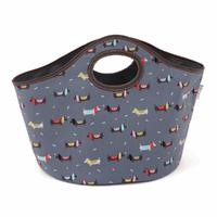 Sausage Dog Patterned Craft Storage Knitting Bag 26x32x48cm