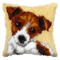 Terrier  (Small) Latch Hook Cushion Front Kit. Orchidea, 25x25cm