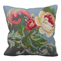 Antique Rose Chunky Cross Stitch Cushion Front Kit