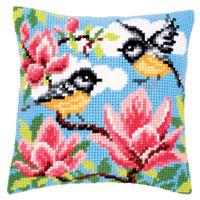 NEW - Blue Tits Chunky Cross Stitch Cushion Front Kit