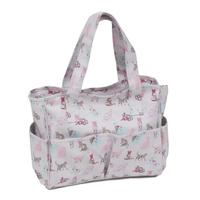 Vinyl Knitting Bag Craft Storage Bag - Cats