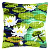 Water Lilies Chunky Cross Stitch cushion front Kit