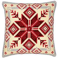 Nordic Snowflake Vervaco Chunky Cross Stitch Cushion Front Kit