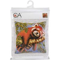Red Panda Chunky Cross Stitch Cushion Front Kit
