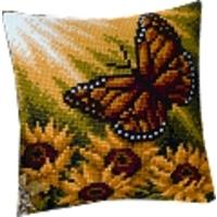 Autumn Butterfly. Vervaco Cushion Front Tapestry Kit