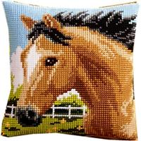 Bay Horse. Vervaco Cushion Front Tapestry Kit