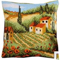 Landscape. Vervaco Cushion Front Tapestry Kit