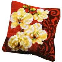 Orchid Chunky Cross Stitch Cushion Front Kit 16x16""