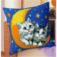 Moon & Cats, Cushion Front Tapestry Kit