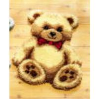Big Brown Teddy Brown Bear Latch Hook Kit