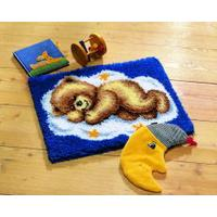 Cloud Teddy Latch Hook rug making kit. Vervaco