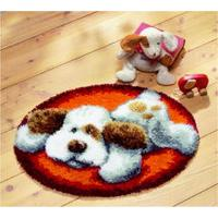 Flat Out Puppy Latch Hook rug making kit. Vervaco
