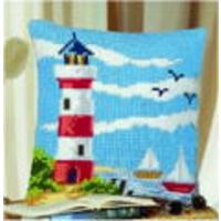 Lighthouse Chunky Cross Stitch Cushion Front Kit Vervaco