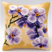 Lilac Orchids Cross Stitch Cushion Front kit (109)