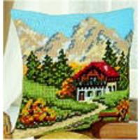 Mountain Scene Chunky Cross Stitch Cushion Front Kit Vervaco NEW