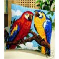 Parrots Chunky Cross Stitch Cushion Front Kit by Vervaco