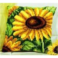 Single Sunflower Chunky Cross Stitch Cushion Front Kit