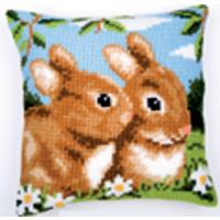 Spring Bunnies, Cushion Front Tapestry Kit (110)