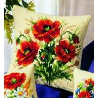 Three Poppies, Cushion Front Tapestry Kit