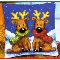 Christmas Reindeer, Cushion Front Tapestry Kit