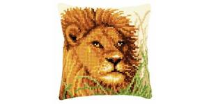 African Lion Chunky Cross Stitch Cushion Front Kit by Vervaco