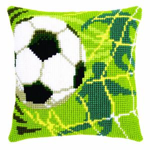 Goal! Football Chunky Cross Stitch Cushion Front Kit