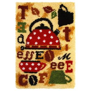 Tea & CoffeeLatch Hook Rug Making Kit. Orchidea, 50x74cm Pr