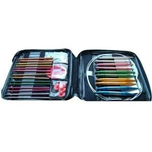 40 piece interchangeable circular knitting needle system