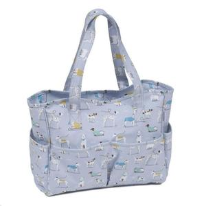 Vinyl Knitting Bag Craft Storage Bag - A Dog's Life