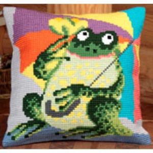 Mr.Frog Chunky Cross Stitch Cushion Front Kit
