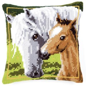 Mare & Foal Chunky Cross Stitch Cushion Front Kit