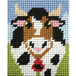 Alpine Cow - My First Embroidery Kit - 17x20cm approx