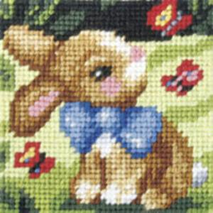 Spring Bunny - My First Embroidery Kit - 16x16cm approx