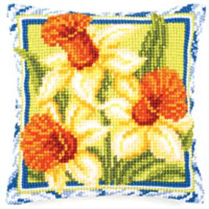 Spring Daffodils Chunky Cross Stitch Cushion Front Kit