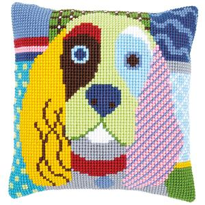 Modern Dog Cocker Spaniel Chunky Cross Stitch Cushion Front Kit