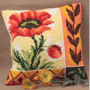 New Poppy Chunky Cross Stitch Cushion Front Kit