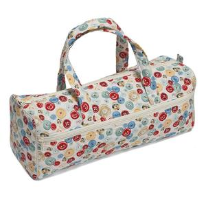 Knitting Bag Sewing Bag with soft handles - Vintage Buttons Desi