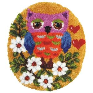 Shaped Owl Latch Hook Rug Making Kit. Orchidea, 55x47cm Pr