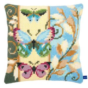Deco Butterflies - Chunky Cross Stitch Cushion Front Kit 40x40cm