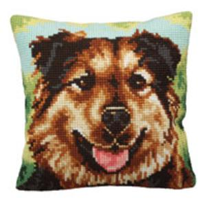 Boulie Dog Chunky Cross Stitch Cushion Front Kit