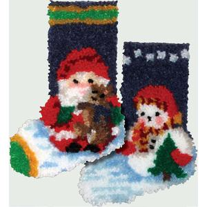 Roly Poly Stocking Pair Latch Hook Kits 19x29cm each