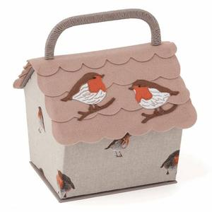 Sewing Box - Robin on Birdhouse Design