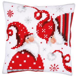 Christmas Gnomes ~ Chunky Cross Stitch Cushion Front Kit